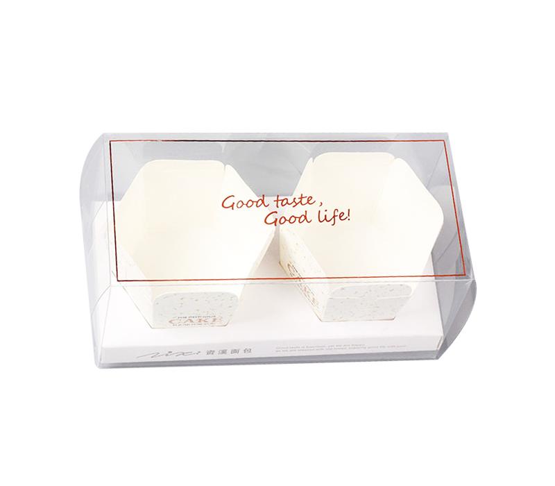 caja plegable transparente